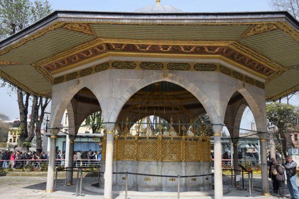 Fontaine aux ablutions sainte sophie istanbul