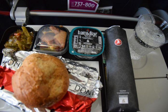 plateau repas Turkish Airlines