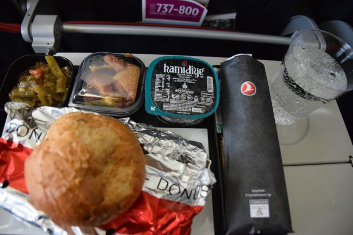 plateau repas Turkish Airlines
