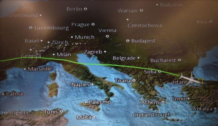 trajet Turkish Airlines