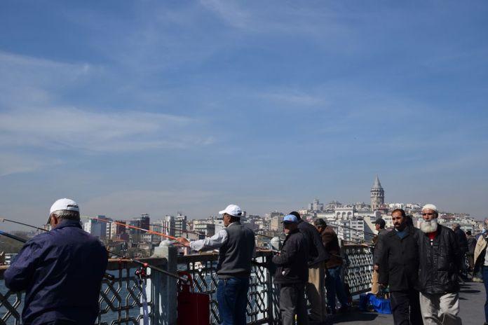 pêcheurs pont de Galata Istanbul