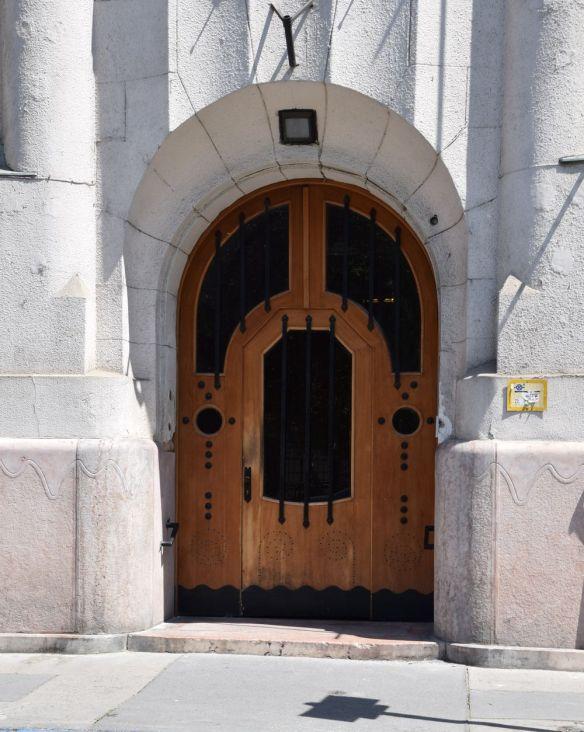 Porte maison des imprimeurs Budapest Hongrie Hungary