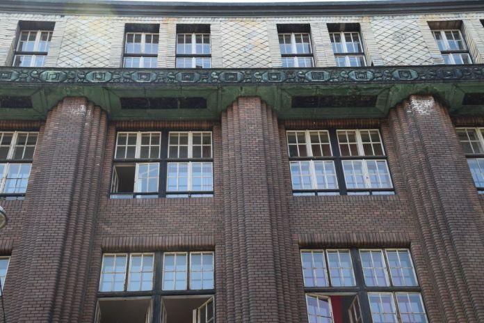 façade école rue vas Budapest Hongrie Hungary