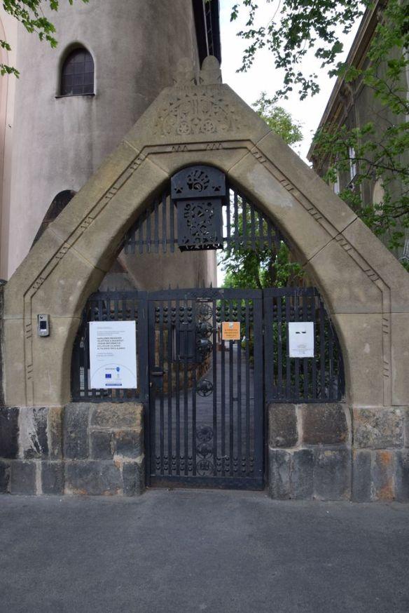 porte église calviniste Budapest Hongrie Hungary