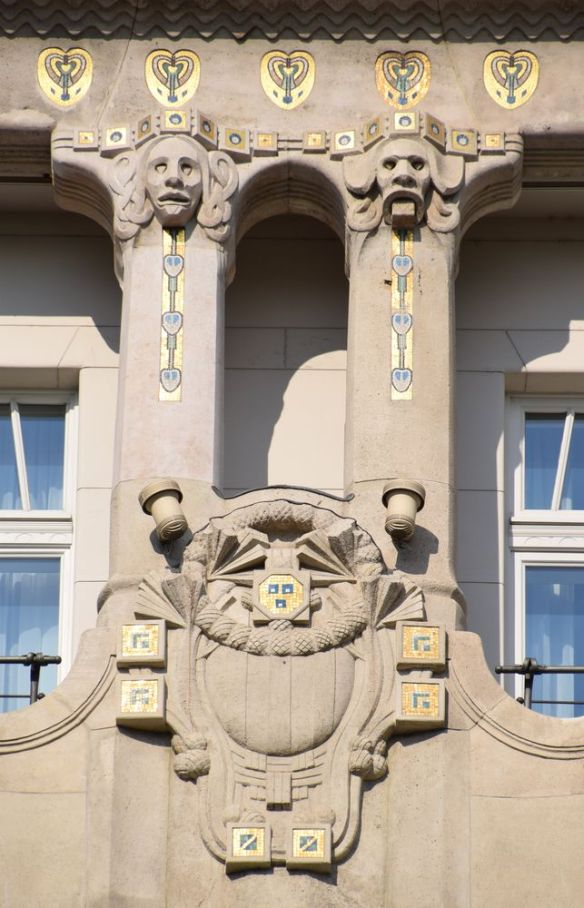 médaillons Gresham Budapest Hongrie Hungary