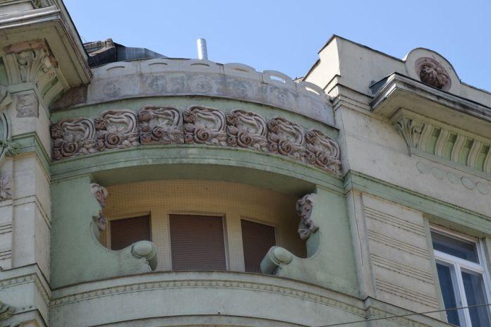 angle Art nouveau Budapest Hongrie Hungary
