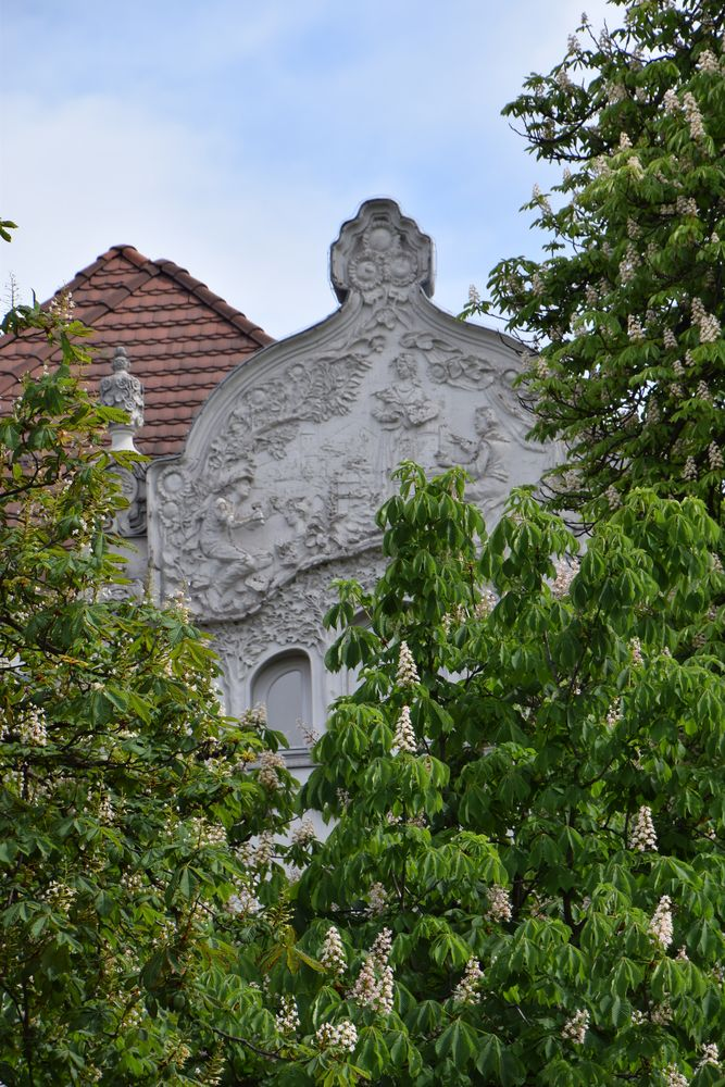 décor façade Budapest Hongrie Hungary