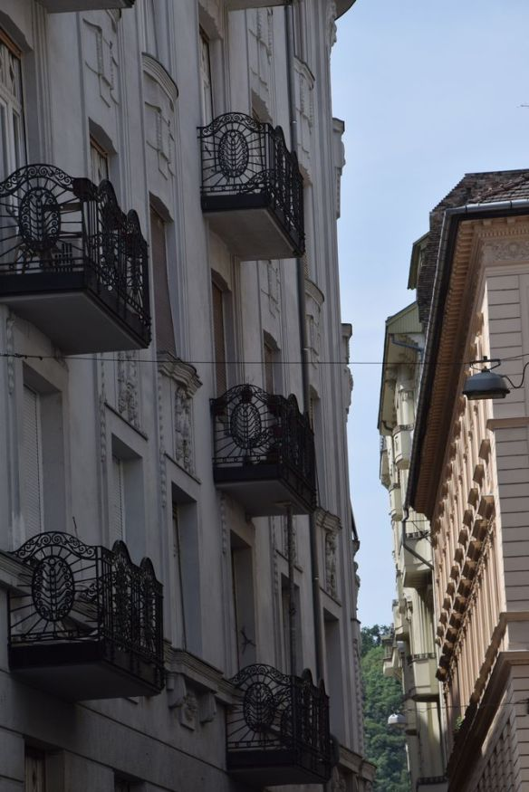 balcon perspective Budapest Hongrie Hungary