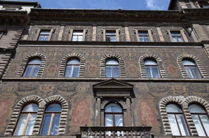 sgraffites Andrassy Budapest Hongrie Hungary