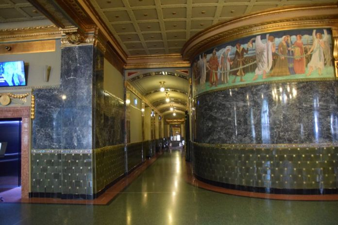 couloir Académie Liszt Budapest Hongrie Hungary