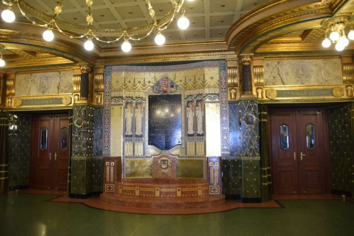 hall entrée Académie Liszt Budapest Hongrie Hungary