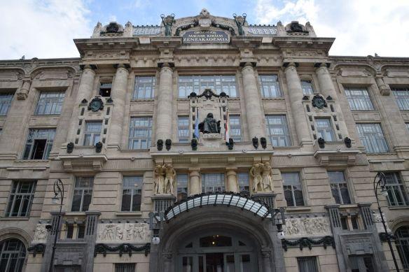 façade Académie Liszt Budapest Hongrie Hungary