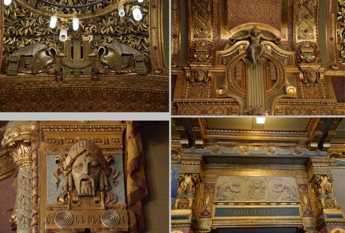 détail décors Académie Liszt Budapest Hongrie Hungary