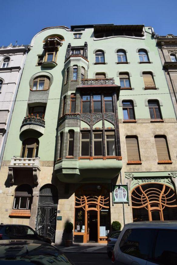 façade Bedo Haz Budapest Hongrie Hungary