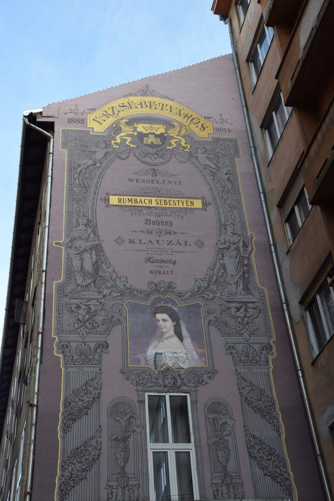 publicité à l'ancienne Budapest Hongrie Hungary