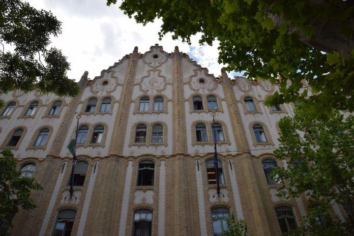 caisse d'épargne façade Budapest Hongrie Hungary