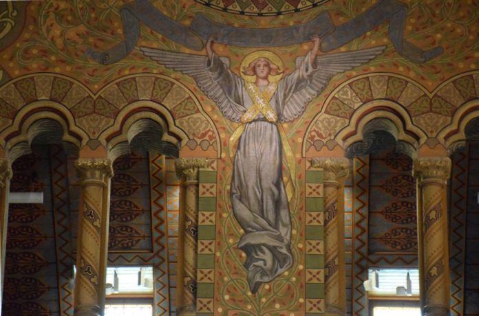 détail décor église Mathias Budapest Hongrie Hungary