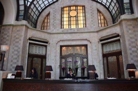 réception Palais Gresham Four Seasons Budapest Hongrie Hungary