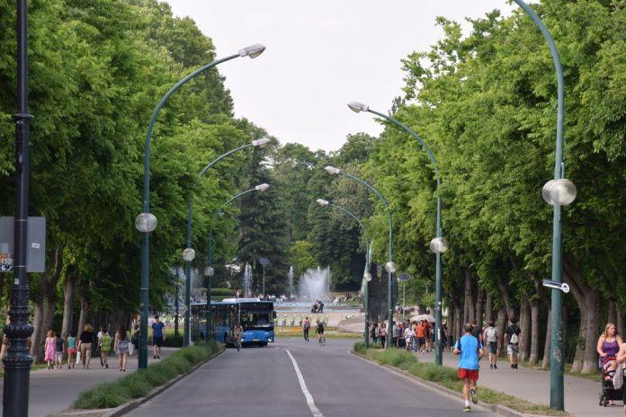 entrée île Marguerite Budapest Hongrie Hungary