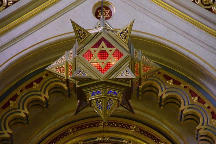 lanterne Grande Synagogue Budapest Hongrie Hungary
