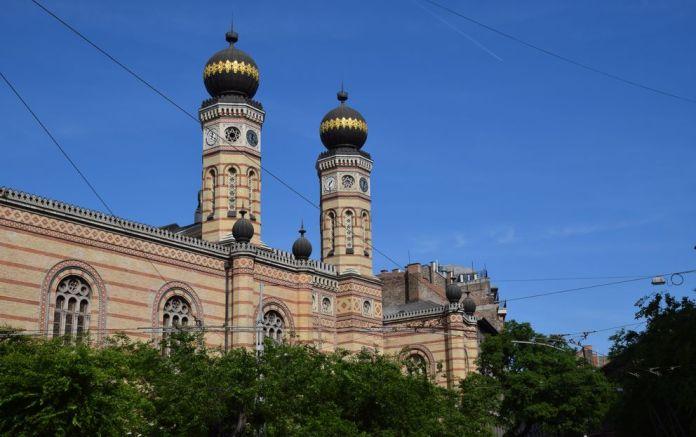 façade Grande Synagogue Budapest Hongrie Hungary
