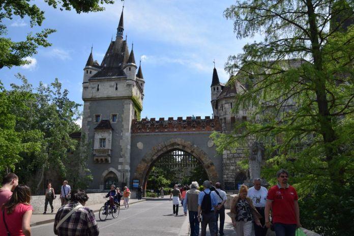 entrée vajdahunyad Budapest Hongrie Hungary