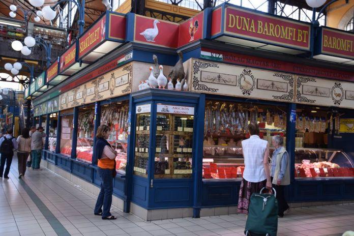 foie d'oie grand marché Budapest Hongrie Hungary
