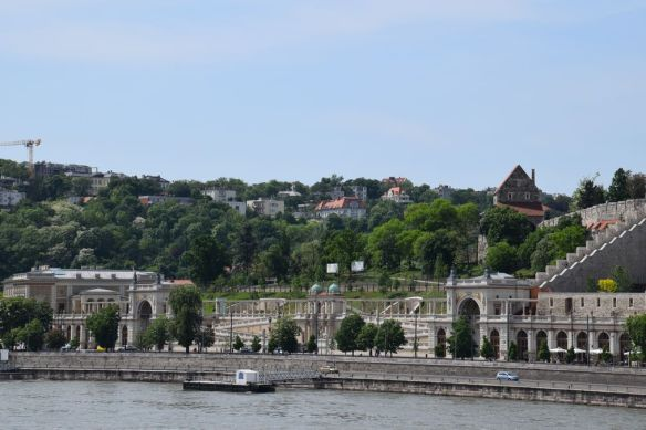 vue pavillon jardin royal Budapest Hongrie Hungary