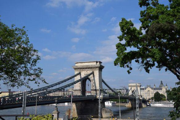 Pont des chaînes Budapest Hongrie Hungary
