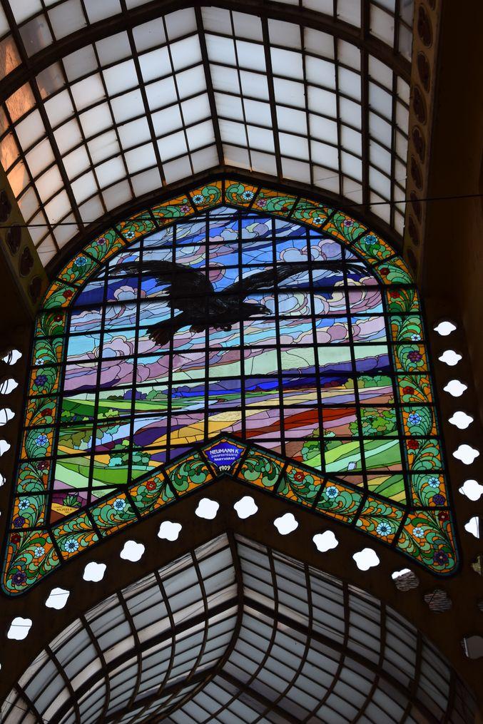 vitrail Aigle noir Oradea Roumanie