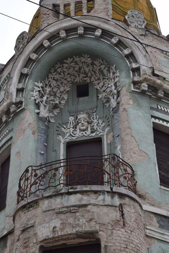 décor floral Art nouveau Palais Moskovits Miksa Oradea Roumanie