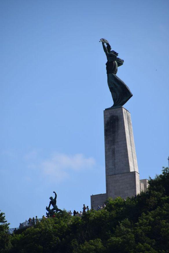 statue liberté gellert Budapest Hongrie Hungary