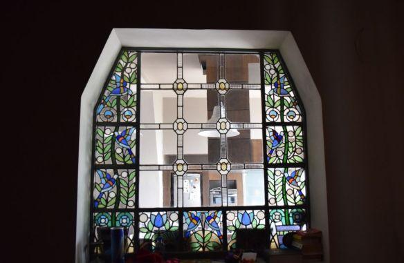 fenêtre vitrail Villa Darvas-Laroche, Oradea Roumanie