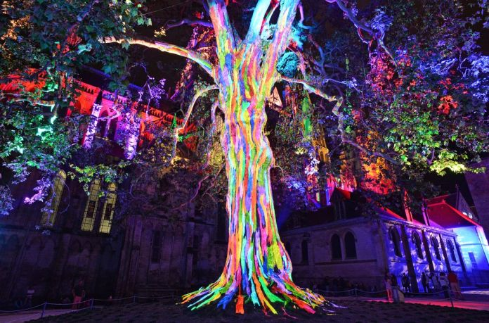 Les lumières de la Liberté, photo Patrice Le Bris, OT Bayeux Intercom.