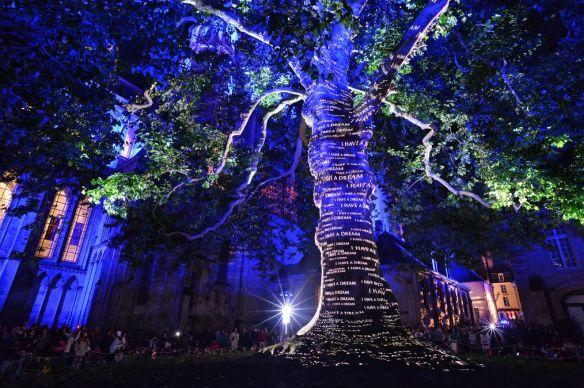 Les lumières de la Liberté, photo P Le Bris, OT Bayeux Intercom.