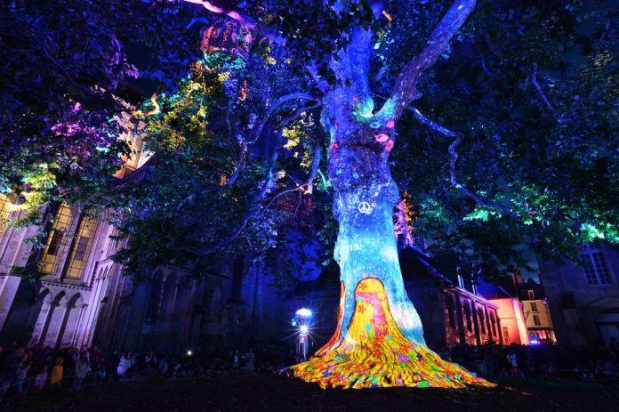 Les lumières de la Liberté, photo P Le Bri, OT Bayeux Intercom.