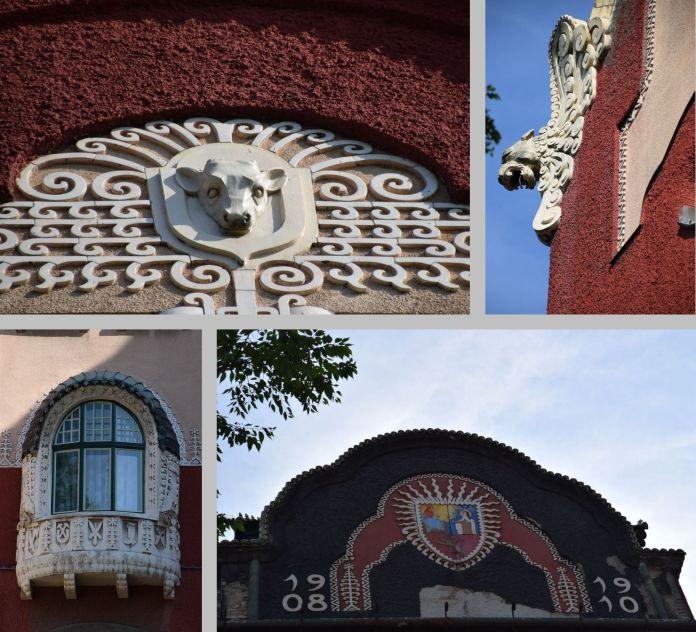 motifs décoratifs mairie de Subotica Serbie.