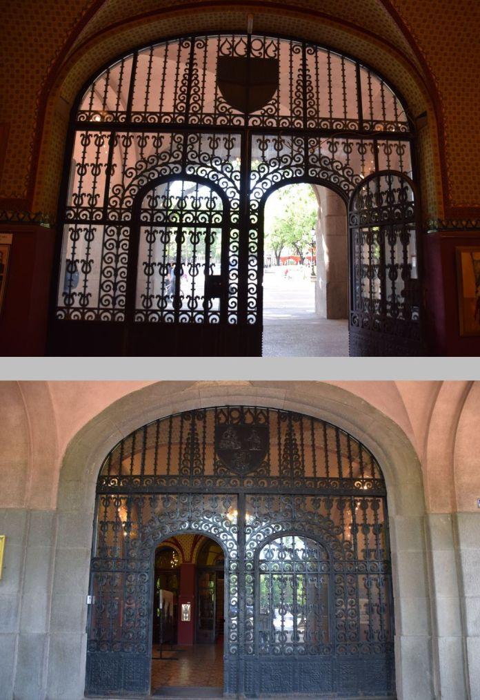 porte entrée de la mairie de Subotica recto verso Subotica Serbie