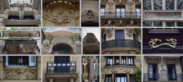 détails Art nouveau modernistes Saint-Sébastien Donostia
