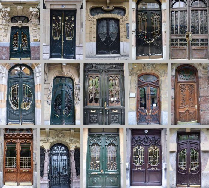 portes modernistes Art nouveau Saint-Sébastien Donostia.