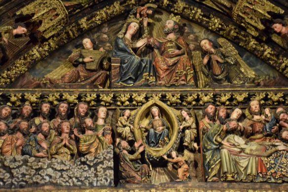 partie haute portail Santa Maria de los Reyes La Guardia Rioja