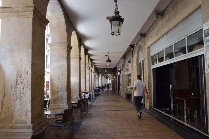 arcades calle Portales Logrono Rioja