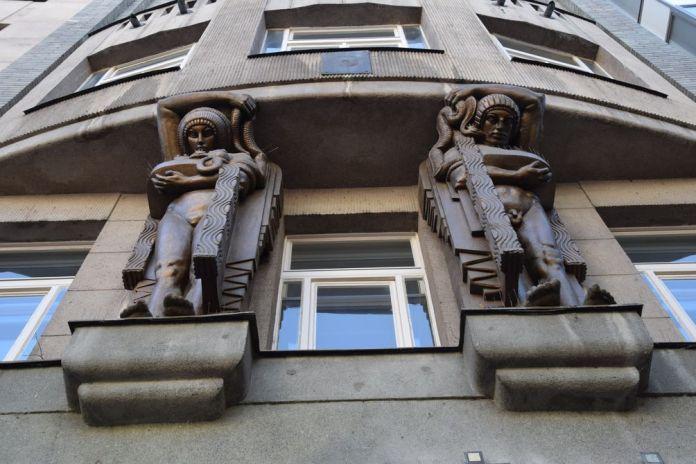 inspiration égyptienne Art nouveau Prague Venceslas