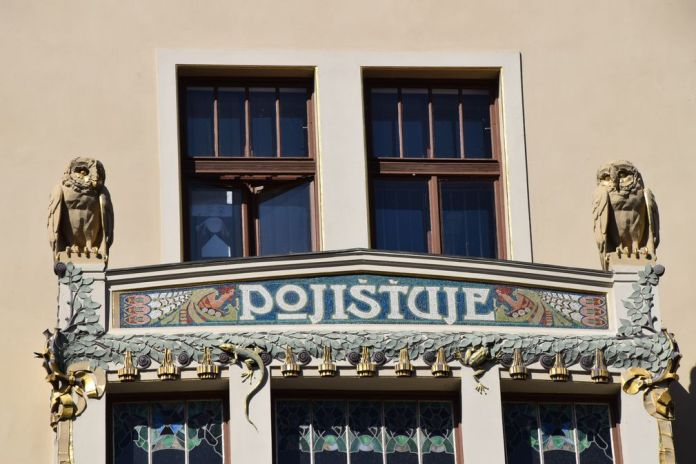 chouettes lézard Art nouveau Prague
