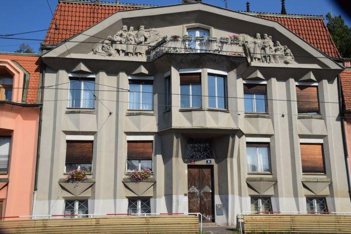 maisons cubistes vysherad sculptures Prague