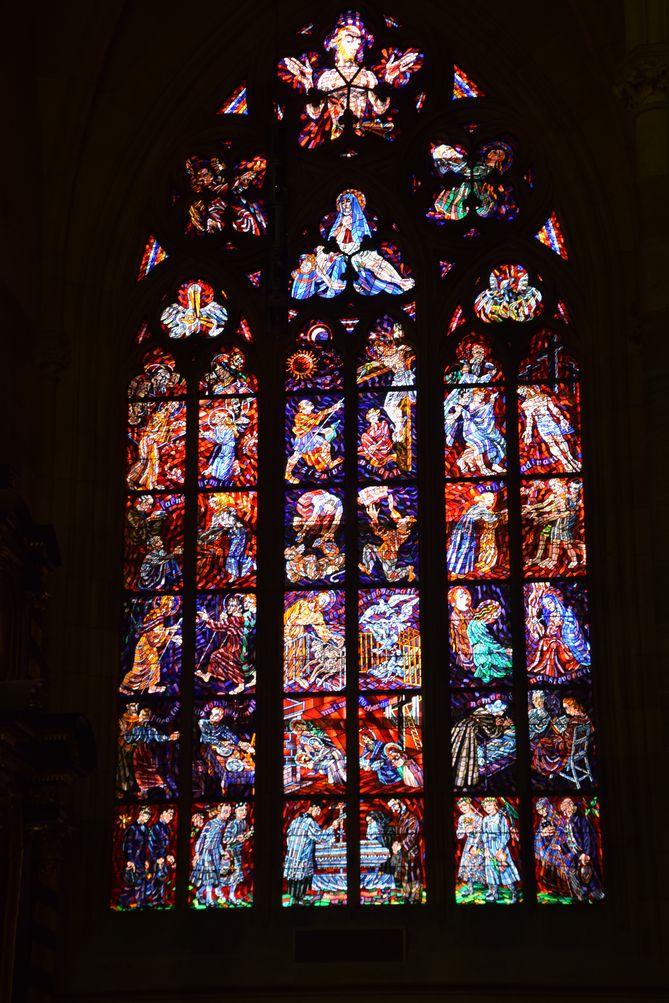 vitraux cathédrale Saint-Guy Prague