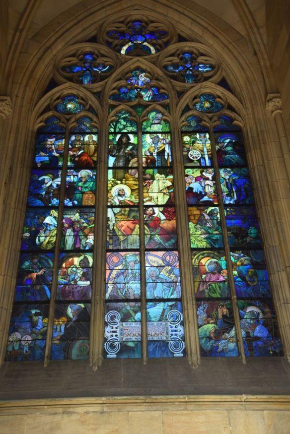 vitraux Mucha Saint-Guy Prague