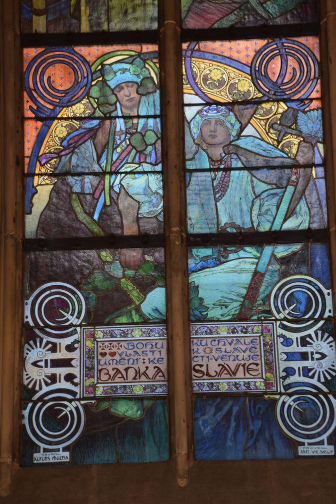 vitraux Mucha Prague