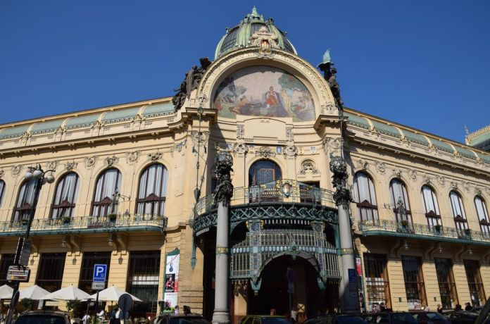 Maison municipale art nouveau prague