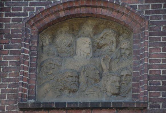 bas-relief villa Bilek Prague